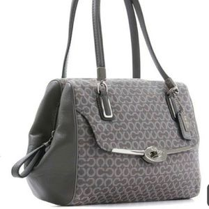 COACH 🌺 25215 Maddison Grey/Beige Art Satchel NEW